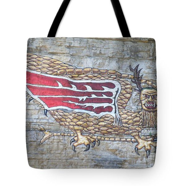 Tote Bag featuring the photograph Piasa Bird by Kelly Awad