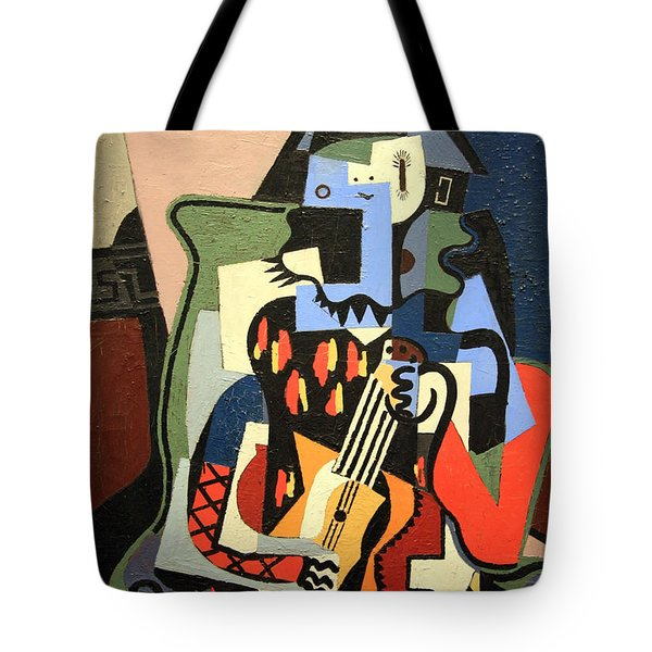 Picasso's Harlequin Musician Tote Bag by Cora Wandel