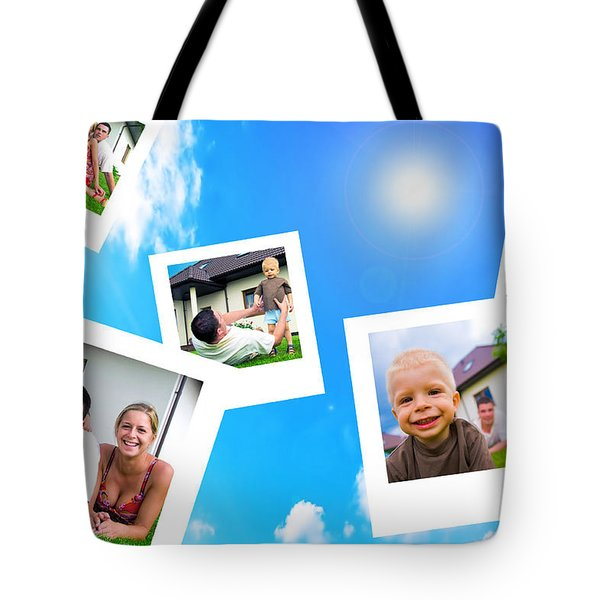 Pictures Of Happy Family Tote Bag by Michal Bednarek