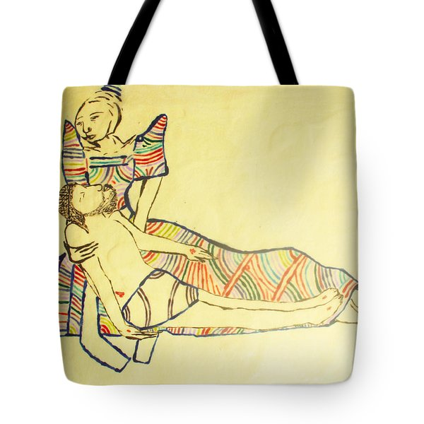 Pieta Tote Bag by Gloria Ssali