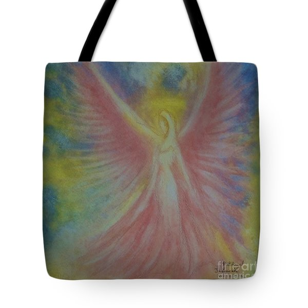 Pink Angel Tote Bag by J L Zarek