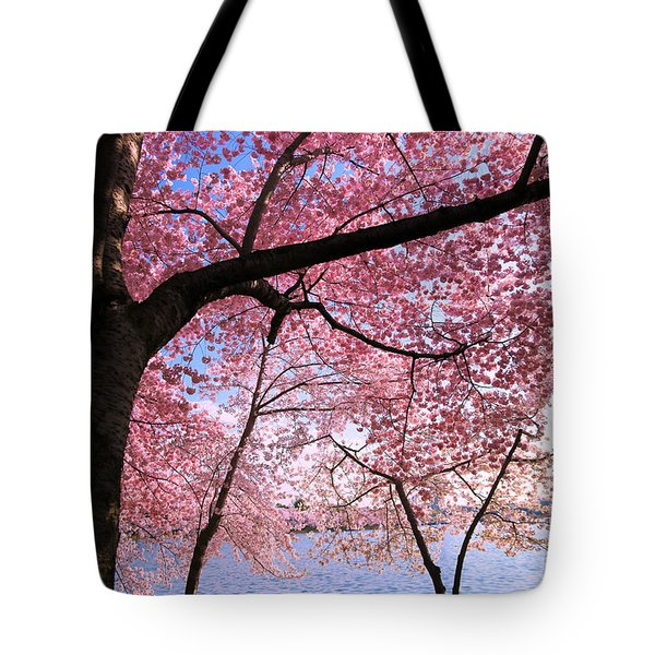 Pink Tote Bag by Mitch Cat