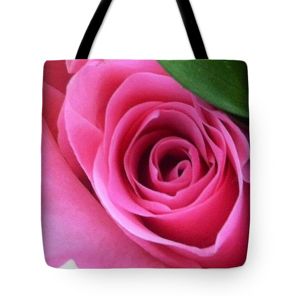 Tote Bag featuring the photograph Pink Rose by Alohi Fujimoto