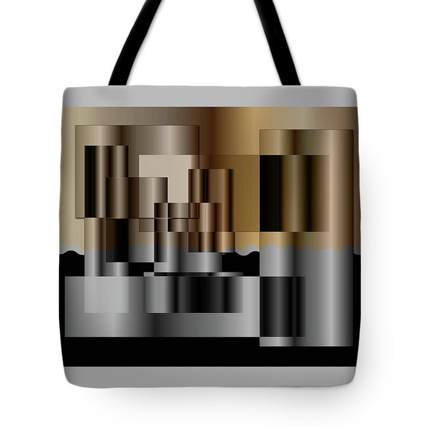 Tote Bag featuring the digital art Pipes by Iris Gelbart