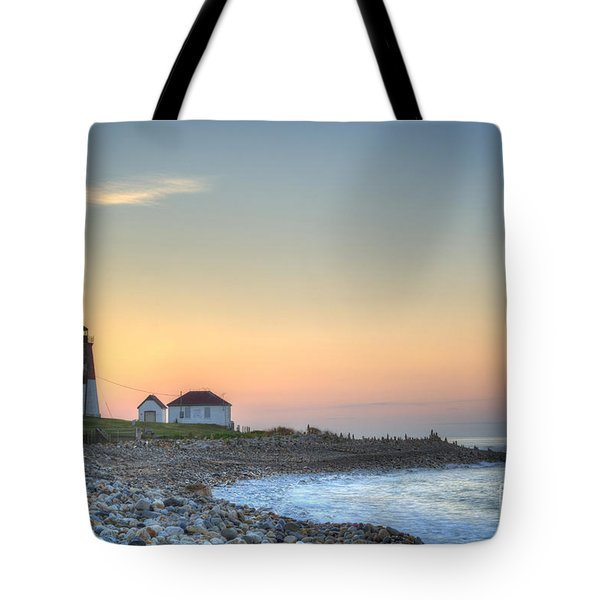 Point Judith Lighthouse Tote Bag by Juli Scalzi