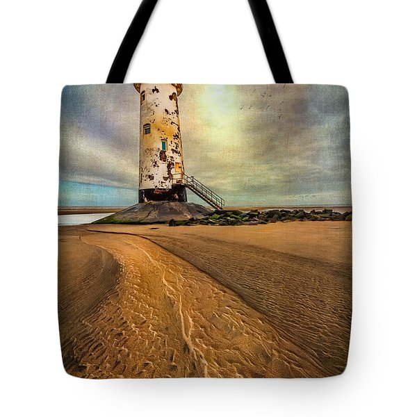 Point Of Ayre Lighthouse Tote Bag by Adrian Evans