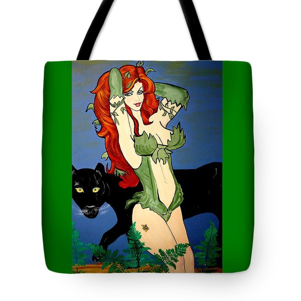 Poison Ivy  Cartoon Tote Bag