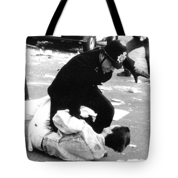 Poll Tax Riots London Tote Bag