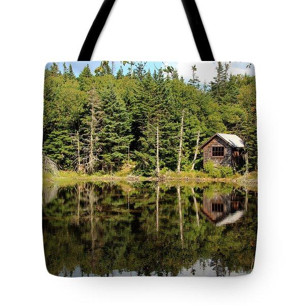 Pond Along The At Tote Bag