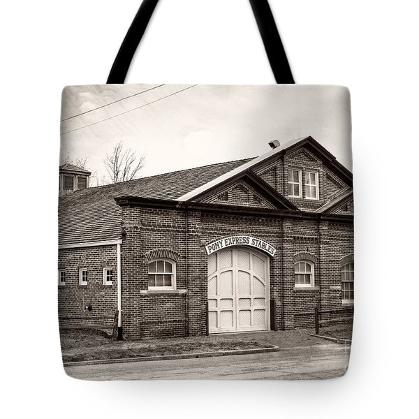 Pony Express Stables Tote Bag