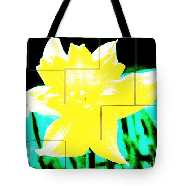 Pop Yellow Tote Bag by Arlene Carmel