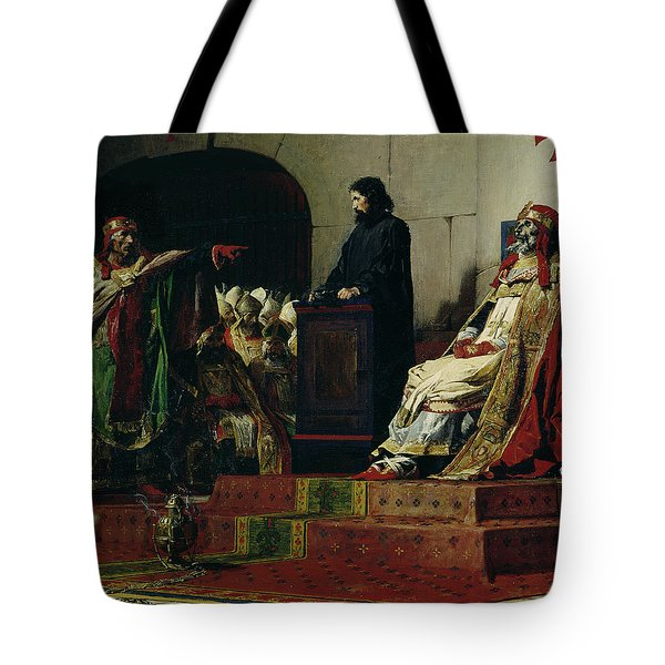 Pope Formosus And Pope Stephen Vi Tote Bag