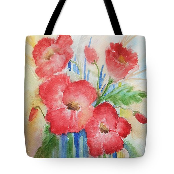 Poppies Tote Bag by Christine Lathrop