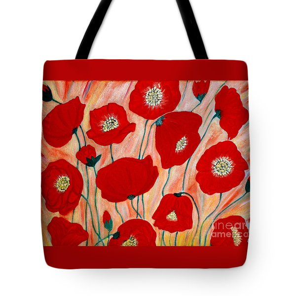 Poppies. Inspirations Collection. Tote Bag