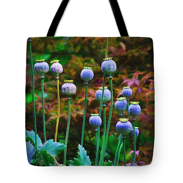 Poppy Seed Pods Tote Bag by Tom Janca