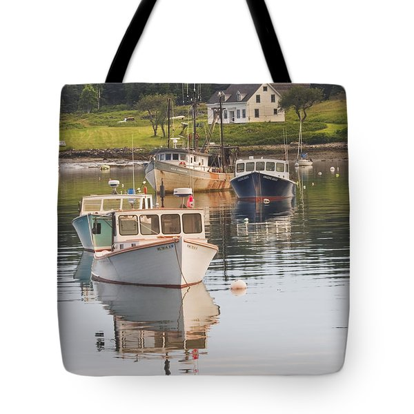 Port Clyde Maine Boats And Harbor Tote Bag