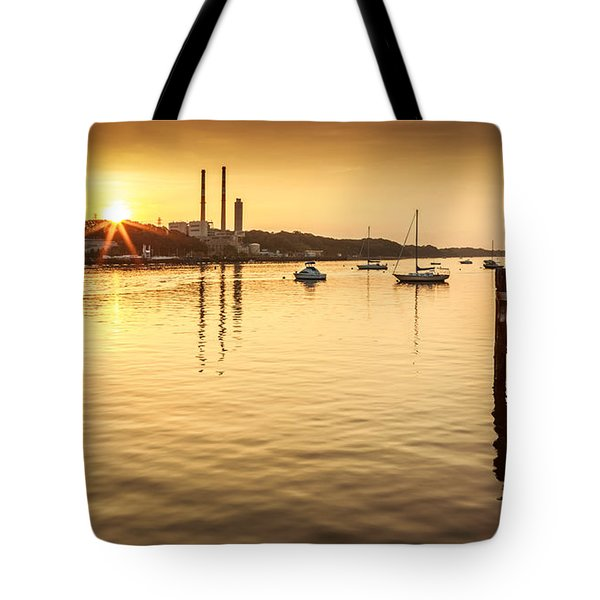 Tote Bag featuring the photograph Port Jefferson by Mihai Andritoiu