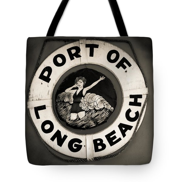 Port Of Long Beach Life Saver Vin By Denise Dube Tote Bag