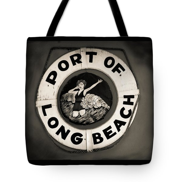 Port Of Long Beach Life Saver Vin By Denise Dube Tote Bag