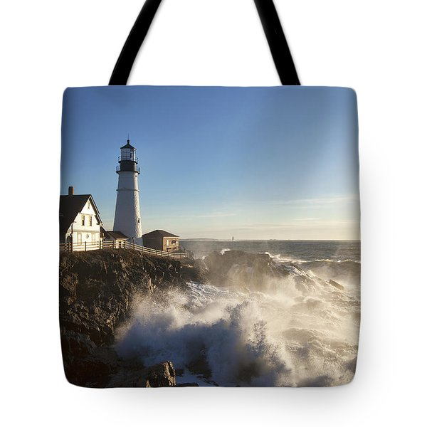 Portland Head Light Tote Bag by Eric Gendron