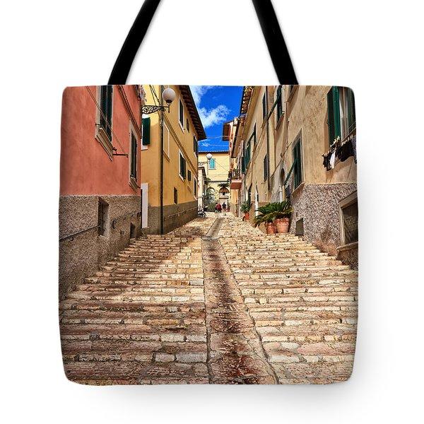 Portoferraio - Isle Of Elba Tote Bag by Antonio Scarpi