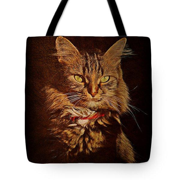Portrait Of A Tramp Cat Tote Bag