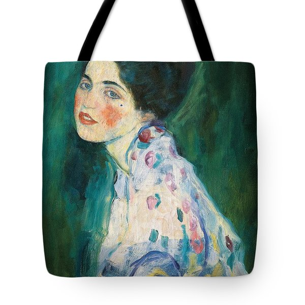 Portrait Of A Young Woman Tote Bag by Gustav Klimt