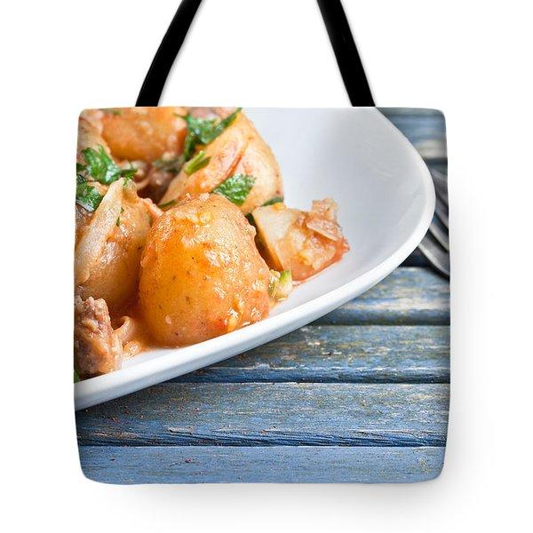 Potatos And Chipolatas Tote Bag