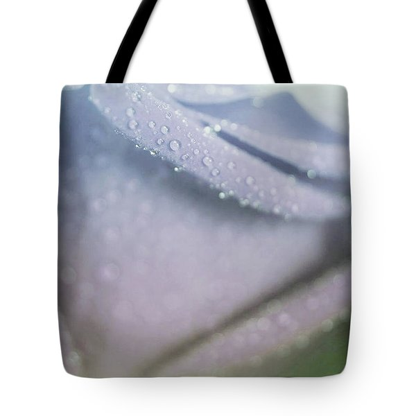 Powdery Blue Rose Tote Bag by The Art Of Marilyn Ridoutt-Greene