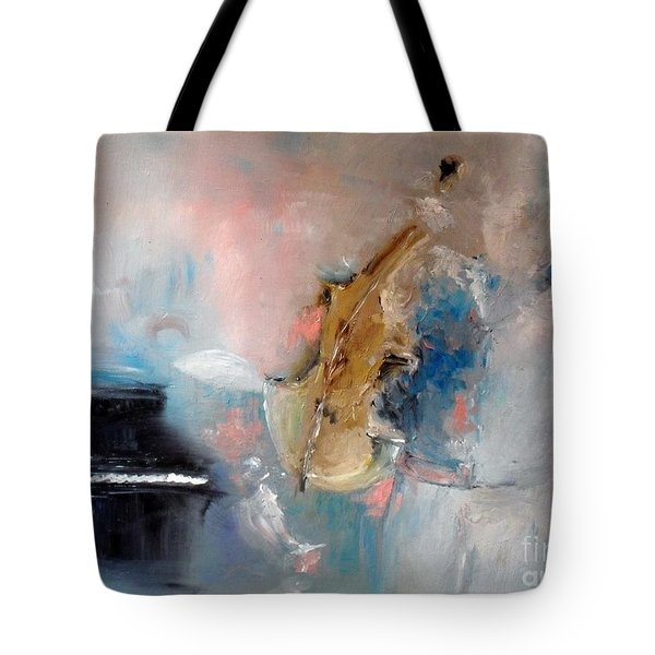 Tote Bag featuring the painting Practice by Laurie L