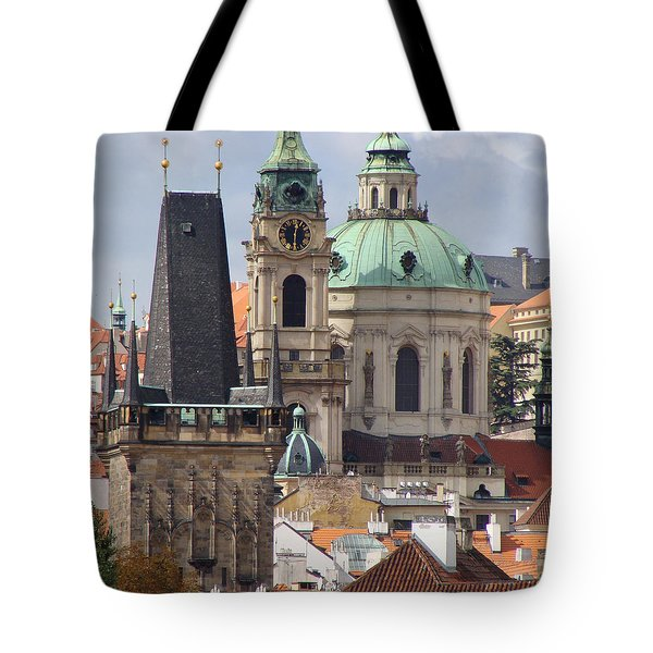 Tote Bag featuring the photograph Prague by Ira Shander