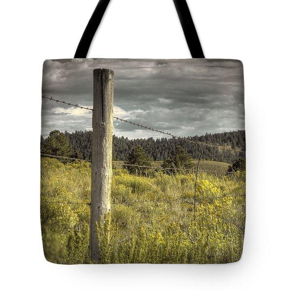Prairie Fence Tote Bag
