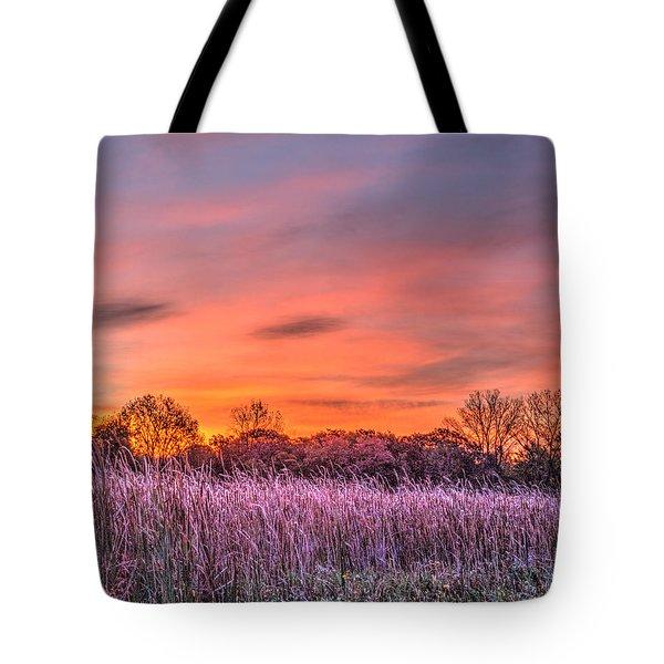 Illinois Prairie Moments Before Sunrise Tote Bag
