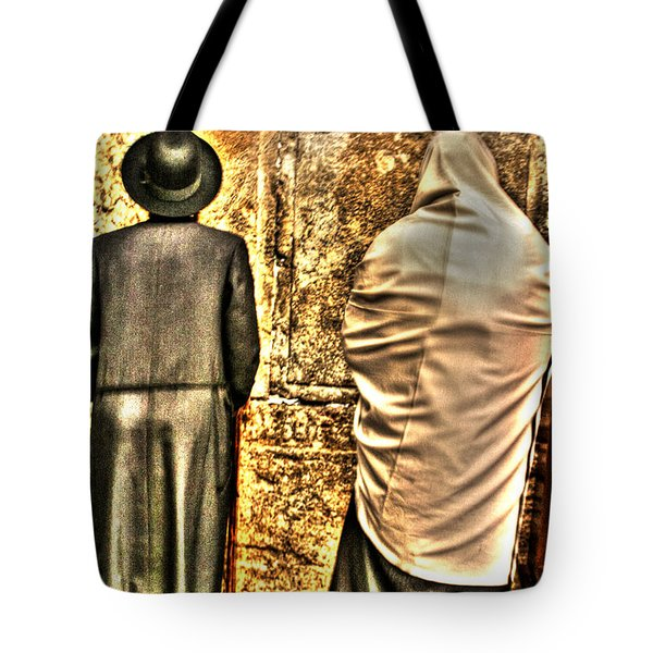 Tote Bag featuring the photograph Praying At The Western Wall by Doc Braham