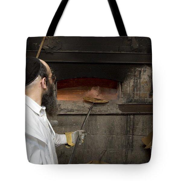 Preparing Matzah Israel Tote Bag
