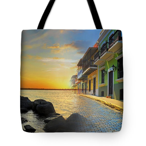 Puerto Rico Collage 4 Tote Bag by Stephen Anderson