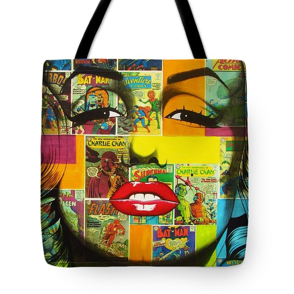 Pulp Marilyn Tote Bag by Joseph Sonday