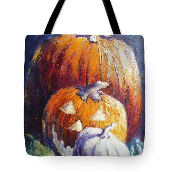 Pumpkin Happy Face Tote Bag