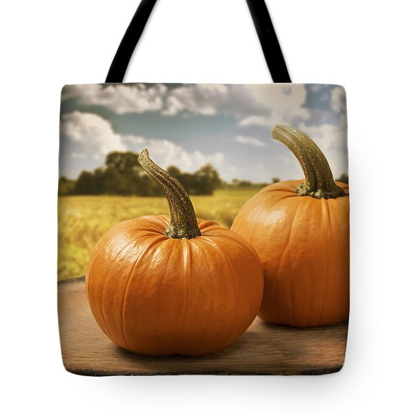 Pumpkins Tote Bag by Amanda Elwell