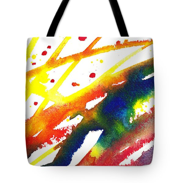 Pure Color Inspiration Abstract Painting Parallel Perception Tote Bag