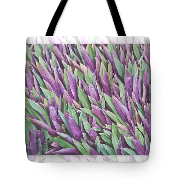Purple And Green Tote Bag by Holly Kempe
