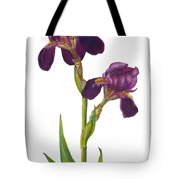 Purple Bearded Iris Tote Bag