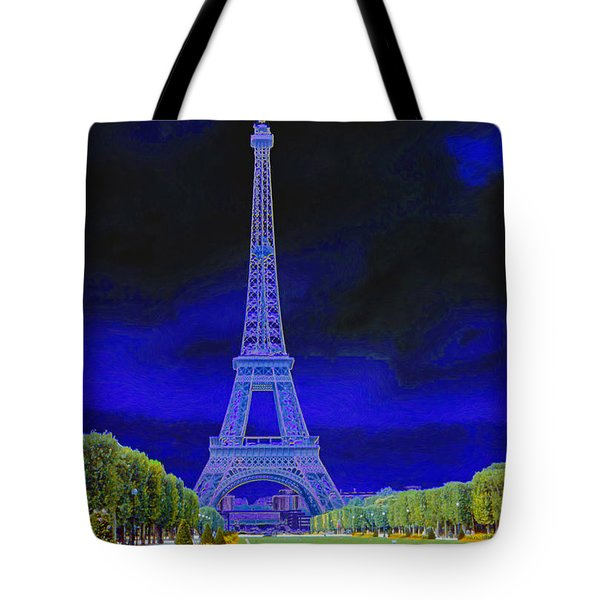 Purple Eiffel Tote Bag