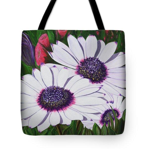 Purple Punch Tote Bag by Donna  Manaraze