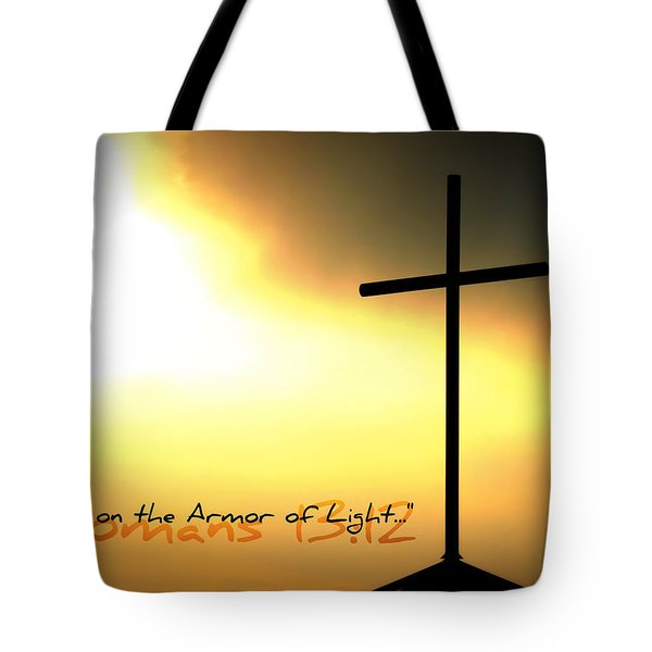 Put On The Armor Of Light Tote Bag by Sharon Soberon