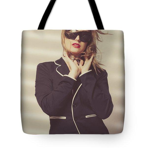 Quality Fashion Portrait Of Stylish Girl In Studio Tote Bag