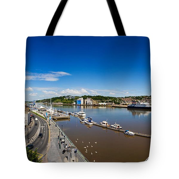 Quayside, Reginalds Tower, River Suir Tote Bag