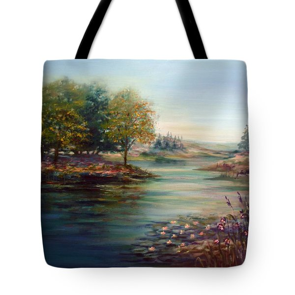 Quiet Day On The Lake Tote Bag