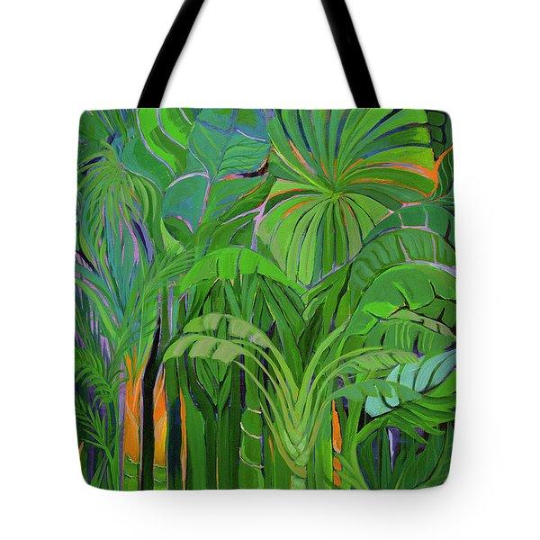 Rain Forest, Malaysia, 1990 Acrylic On Canvas Tote Bag