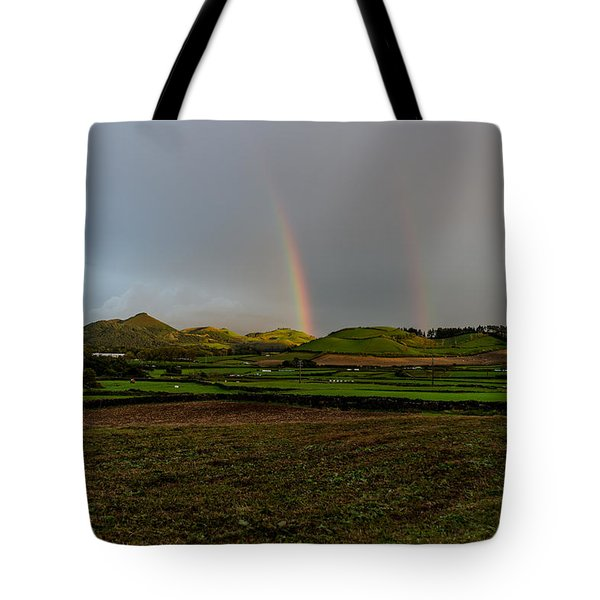 Rainbows Over The Mountain Tote Bag